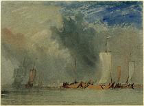 W.Turner, Nahe Nates: Lastkähne auf der Loire in einer Windbö von AKG  Images