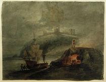 W.Turner, Schloss Llanstephan bei Mondlicht mit einem Brennofen im Vordergrund von AKG  Images