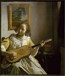Vermeer van Delft / Guitar player / 1670 by AKG  Images