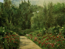 "M.Liebermann, ""Garden beds and path with flowers"" / painting by AKG  Images"