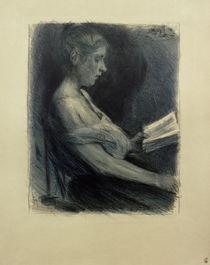 M.Liebermann, Lesendes Mädchen von AKG  Images