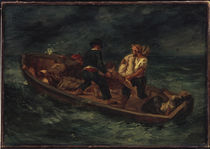 Delacroix / Boat with Shipwrecked / 1846 by AKG  Images