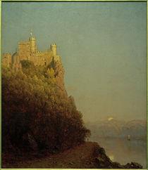 Burg Rheinstein / Gemälde von Sanford Robinson Gifford von AKG  Images