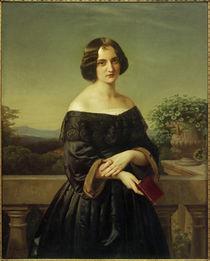 Marie Wiegmann / Gemälde von Carl Ferdinand Sohn von AKG  Images