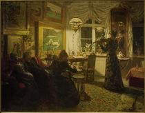 A.S.Petersen, Ein Abend mit Freunden. Bei Lampenschein von AKG  Images