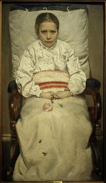 Chr.Krohg, Krankes Mädchen von AKG  Images