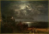 O.Achenbach, Blick von Neapel auf Ischia – Abendstimmung... by AKG  Images