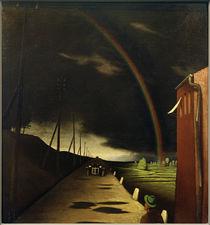 F.Sedlacek, Landschaft mit Regenbogen von AKG  Images