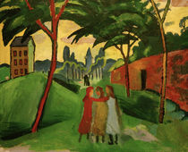 A.Macke, Landschaft mit drei Mädchen von AKG  Images