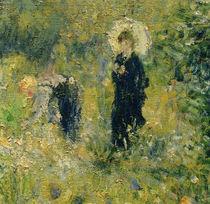 A.Renoir, Frau mit Sonnenschirm in einem Garten by AKG  Images