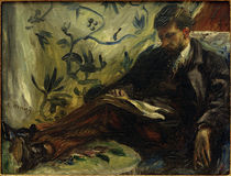 Edmond Maître auf dem Sofa / Gem.v. A.Renoir by AKG  Images