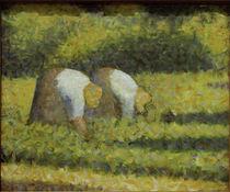 G.Seurat, Bäuerinnen bei der Arbeit von AKG  Images