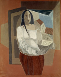 Juan Gris, Woman with Book, 1926 by AKG  Images