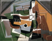 J.Gris, Guitar, Bottle and Glas, 1917 by AKG  Images