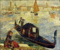 The Grand Canal, Venice (Gondola) / A. Renoir / Painting 1881 by AKG  Images