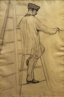 Caillebotte / Painter on a ladder / 1877 by AKG  Images