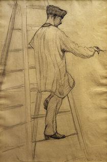 G.Caillebotte, Maler auf einer Leiter von AKG  Images