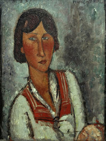 Amedeo Modigliani, Half-length portrait of a young woman wearing a sailor collar by AKG  Images