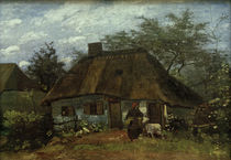 V. van Gogh, Farmhouse, woman and goat by AKG  Images