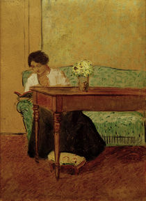August Macke / Elisabeth on green sofa by AKG  Images