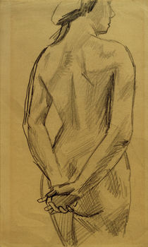 A.Macke / Female Nude 53 / Drawing by AKG  Images