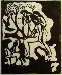 A.Macke / Greeting / Linocut / 1912 by AKG  Images
