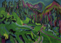E.L.Kirchner / Landscape / Sertigtal/1924 by AKG  Images