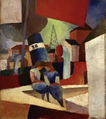 A.Macke / Harbour Scene.....Duisburg Harbour by AKG  Images