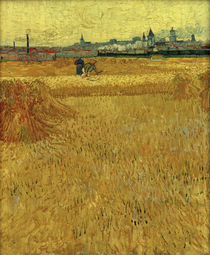 V. van Gogh, Wheat field with view Arles by AKG  Images