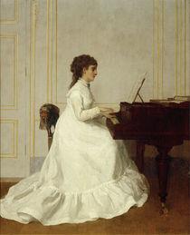 E.Gonzalès am Flügel / Gemälde von Alfred Stevens von AKG  Images