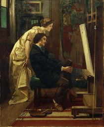 A.Stevens, Der Maler und sein Modell by AKG  Images