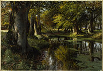 Peder Mørk Mønsted, Late Summer at the Forest Stream by AKG  Images