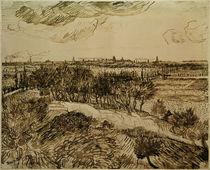 Arles von Montmajour, Zchng. von van Gogh von AKG  Images