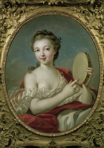 F.Boucher, Young Woman w. Tambourine by AKG  Images
