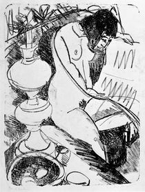 E.L.Kirchner / Sitting Nude Reading by AKG  Images