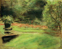 "M.Liebermann, ""Wannsee Garden, overlooking the terrace with flower beds..."" / painting by AKG  Images"