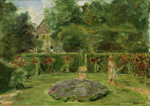 """M.Liebermann, """"Circular flowerbed in a garden..."""" / painting by AKG  Images"""
