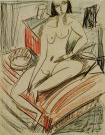 E.L.Kirchner, Weiblicher Akt, auf Bett von AKG  Images