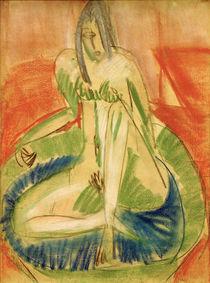 E.L.Kirchner, Sitzender weiblicher Akt von AKG  Images