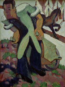 E.L.Kirchner / Farmer with Wheelbarrow by AKG  Images