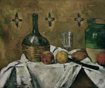 Cézanne / Still life with bottle, glass by AKG  Images