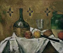 P.Cézanne, Stilleben mit Flasche, Glas.. von AKG  Images