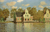 Monet / Houses on Zaan River at Zaandam by AKG  Images