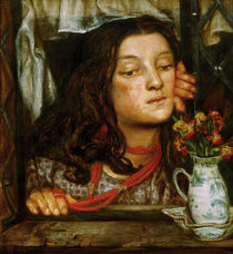 Rossetti / Girl at a lattice / Painting by AKG  Images