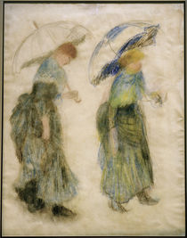 Renoir / Girls with Umbrellas / Pastel by AKG  Images