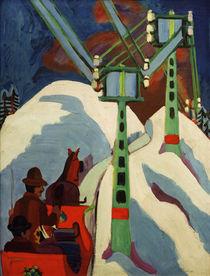 E.L.Kirchner, Sledging / 1922 by AKG  Images