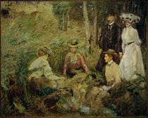 M. Slevogt, Picknick - Familienbild von AKG  Images