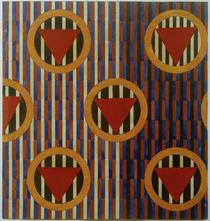 L. S. Popowa, Rote Dreiecke in Kreisen. Entwurf eines Bezugsstoffs für Möbel von AKG  Images