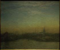 Kopenhagen, Ansicht des Hafens nach Sonnenuntergang / Gem. v. J. Paulsen by AKG  Images