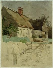 J. Th. Lundbye, Ein Haus in Tiköb by AKG  Images